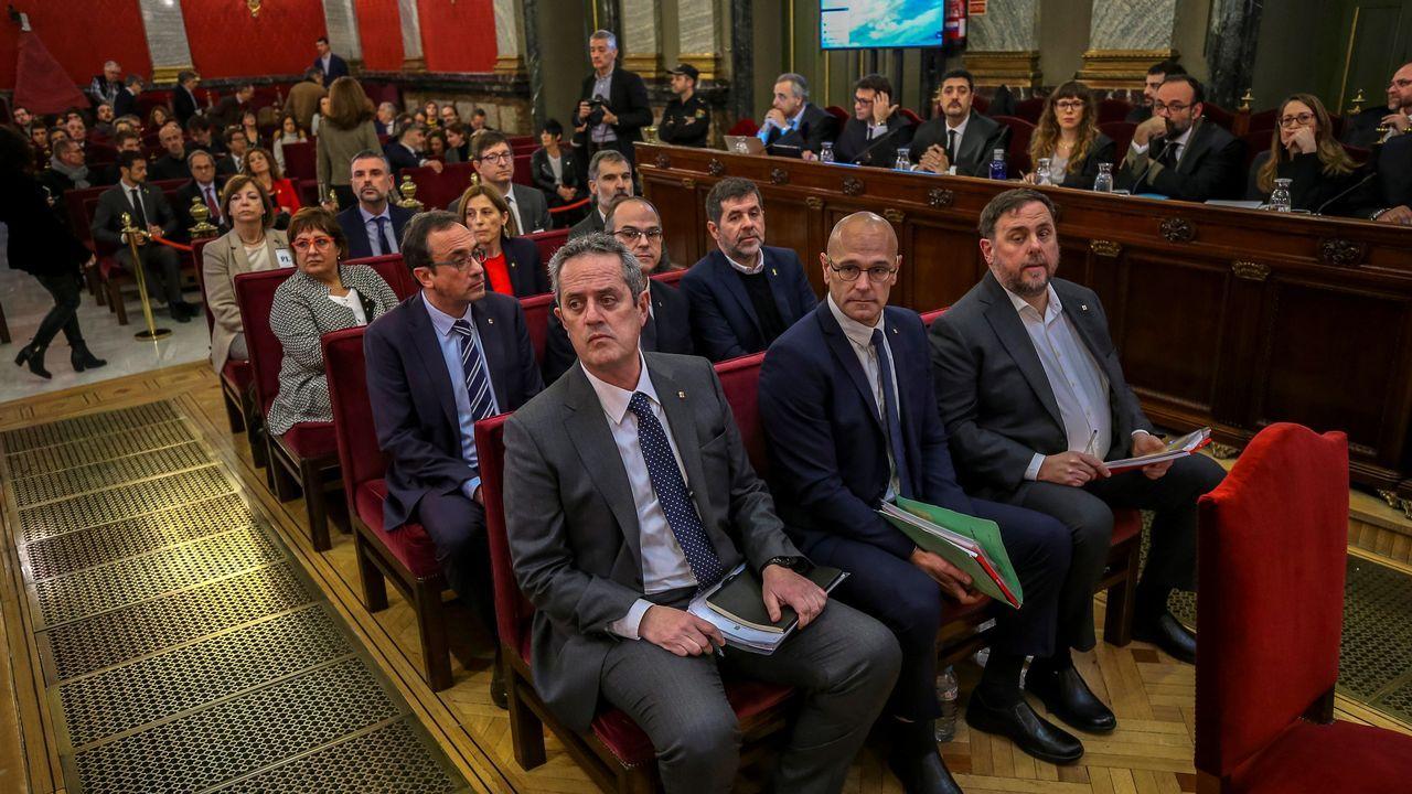 Los doce líderes independentistas, en el banquillo del Tribunal Supremo