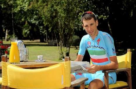 En la imagen, Vincenzo Nibali, durante la jornada de descanso que ayer tuvieron los corredores en el Tour.
