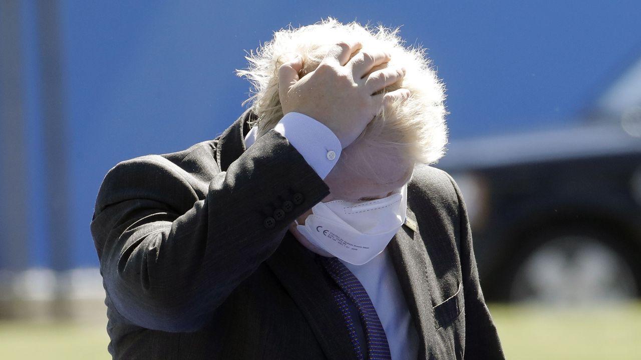 Boris Johnson, a su llegada a la cumbre de la OTAN