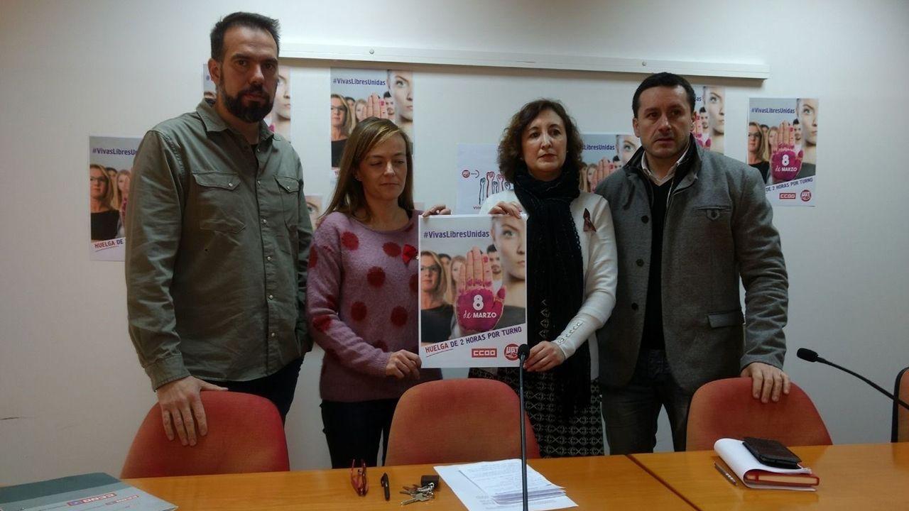 Manifestación del Primero de Mayo de 2018 en Asturias.Los responsables de UGT y CCOO llaman a sumarse a la huelga feminista