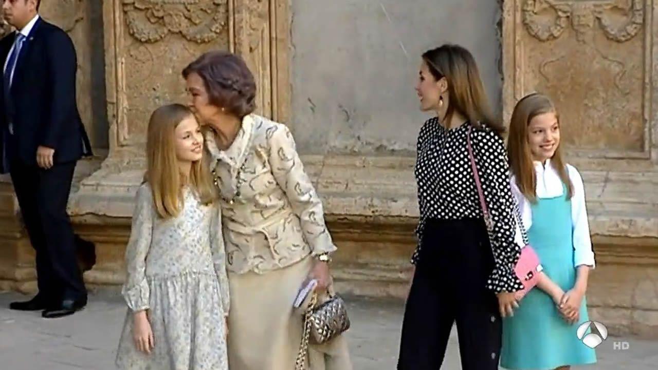 En abril del 2018, Letizia y Sofía protagonizaron  un rifi rafe muy comentado