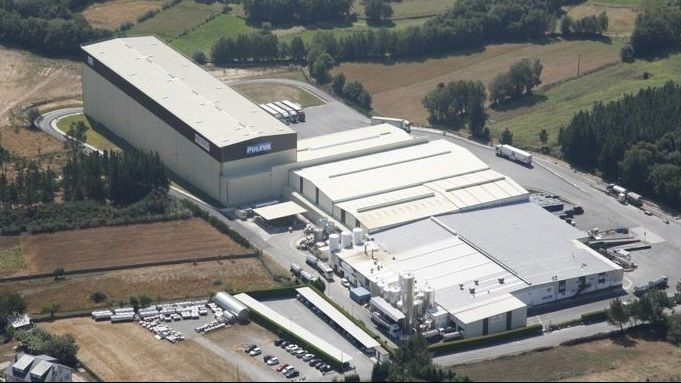 Imagen aérea de la planta de Lactalis en Vilalba