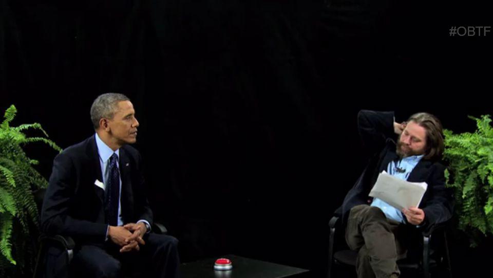 michelle.Obama en el programa de Zach Galifianakis