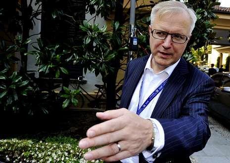 Rehn ha participado este fin de semana en el Foro Económico de Ambrosetti.