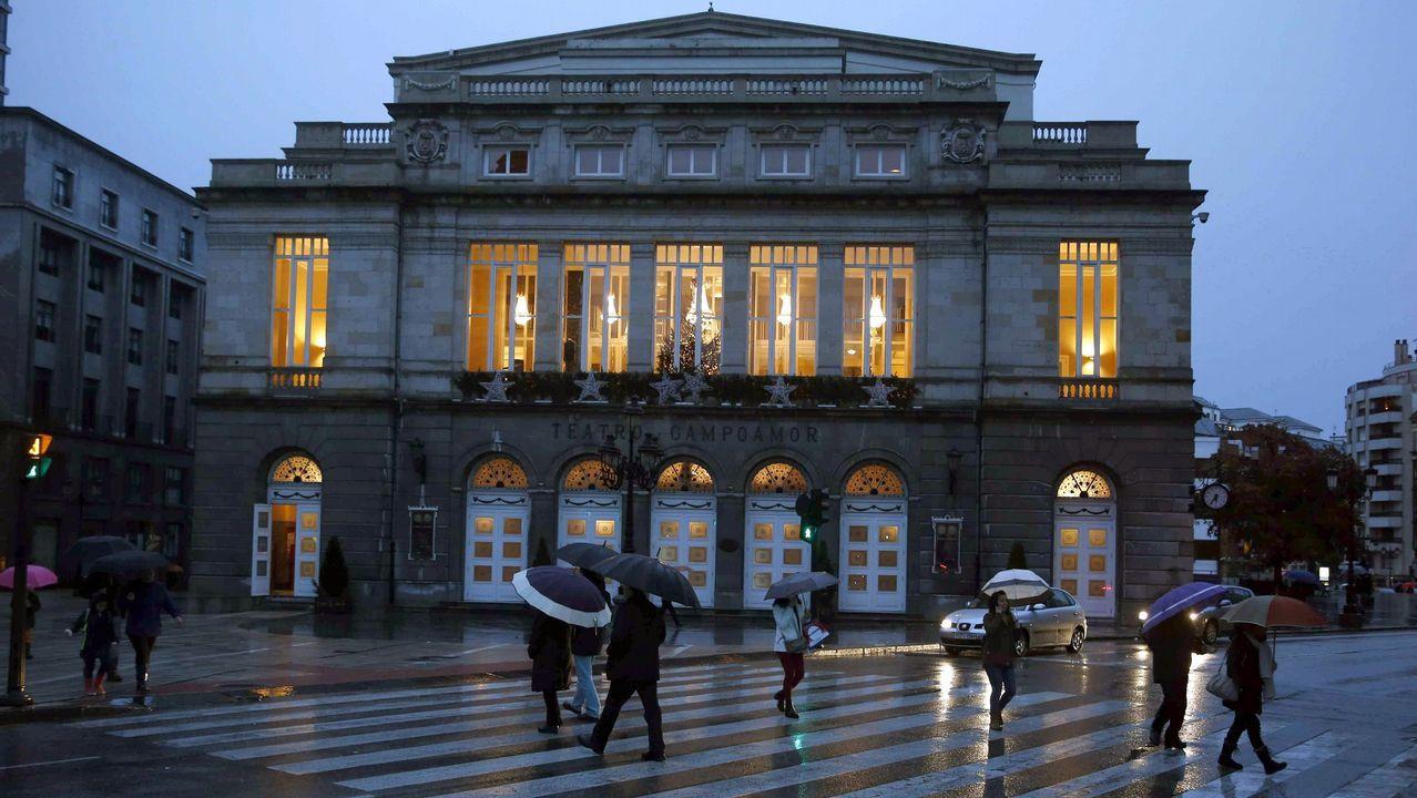 El teatro Campoamor de Oviedo.