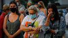 Dolor en O Birloque por el asesinato de Mónica Marcos