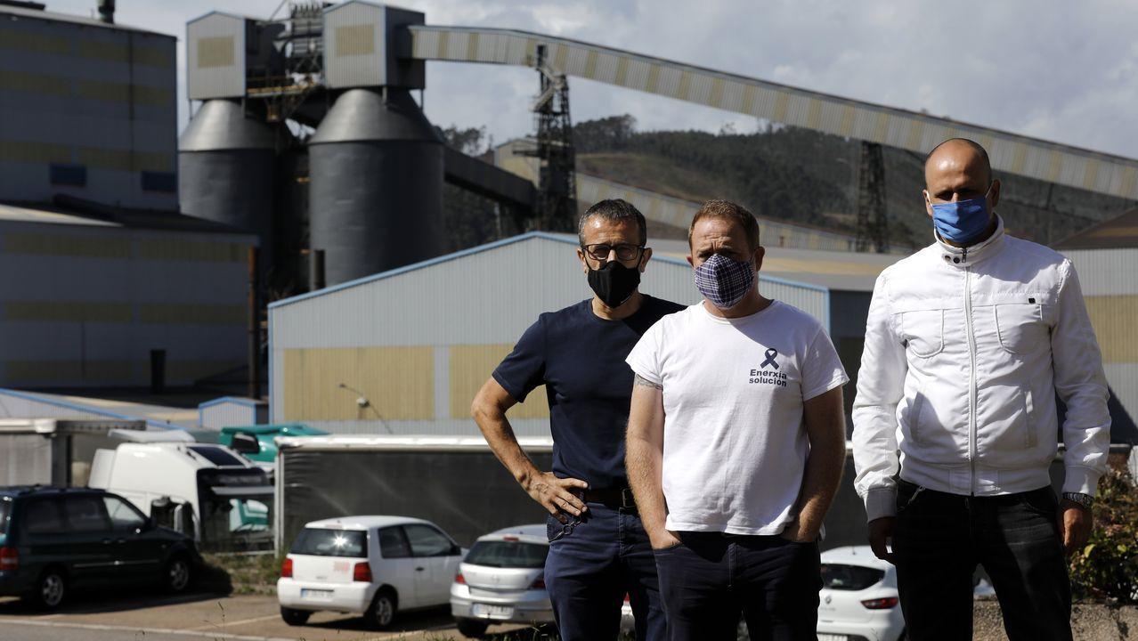 A Mariña se manifiesta por el futuro del aluminio en A Mariña.Gonzalo Caballero, secretario general del PSdeG