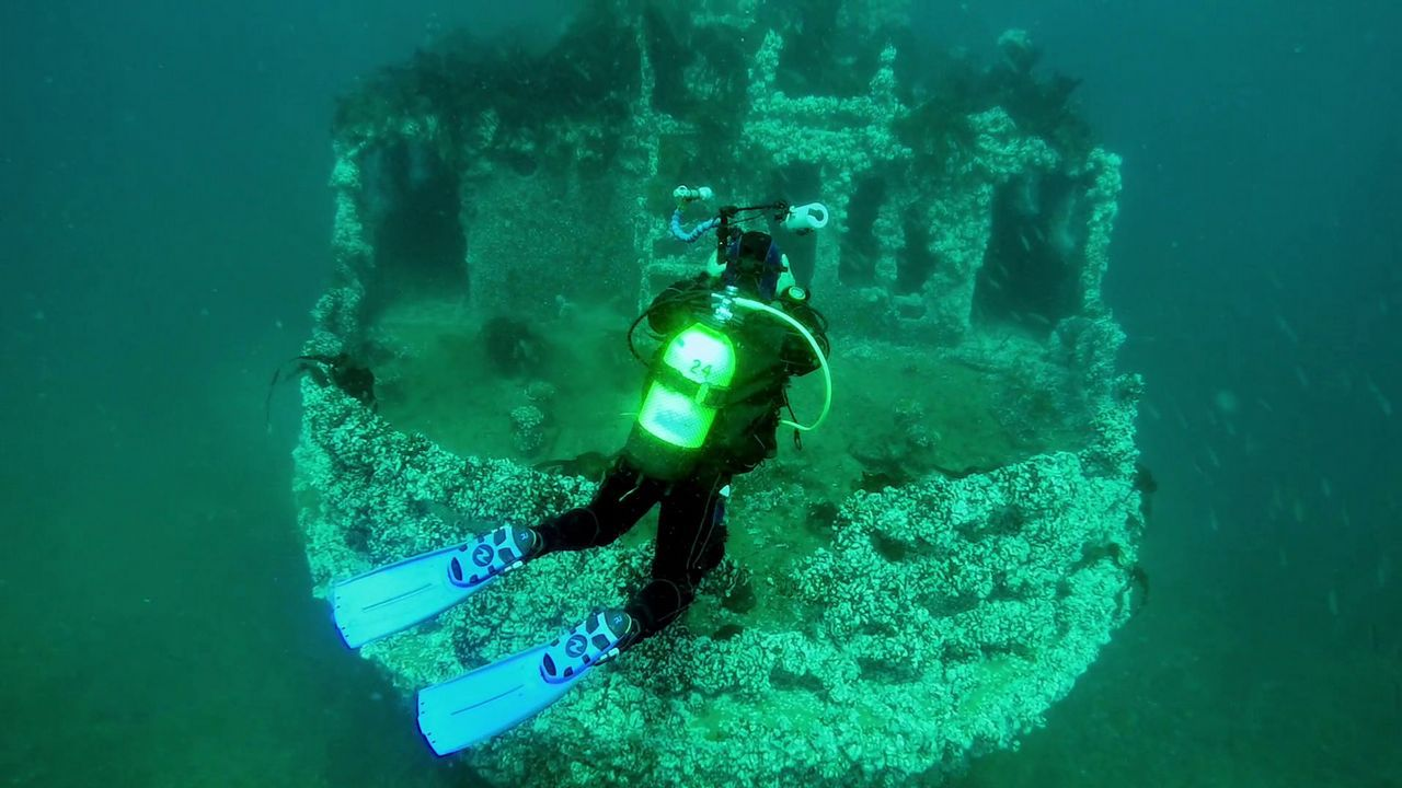El programa mostrará el «Aries», un barco que se conserva entero bajo el mar