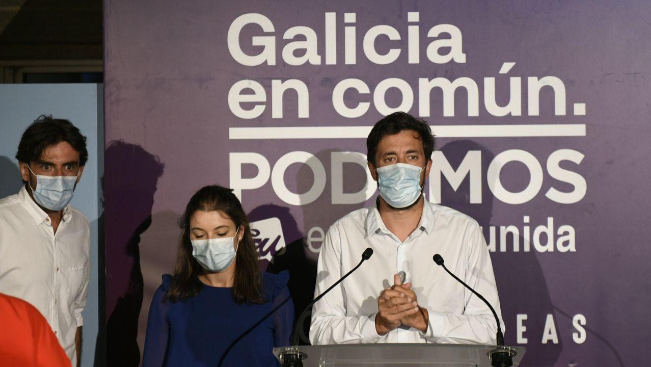 Antón Gómez Reino, ayer en su comparecencia ante los medios