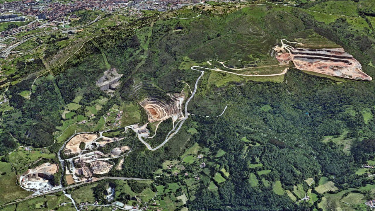 Canteras del lado norte del monte Naranco de Oviedo