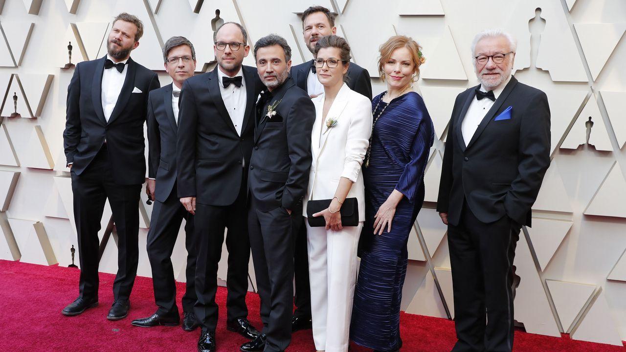 Talal Derki, Ansgar Frerich, Eva Kemme y Tobias N. Siebert con otros invitados