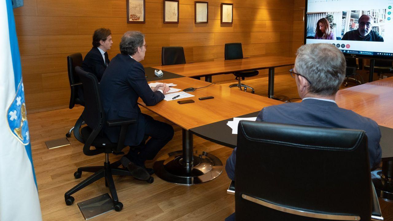 Núñez Feijóo se reunió telemáticamente con Freire de Sousa durante el estado de alarma