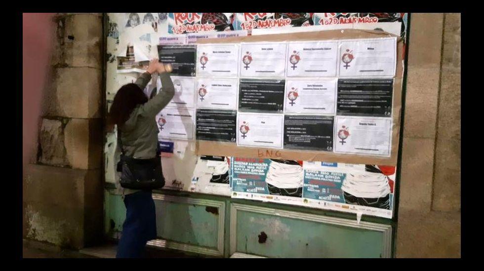 Concentración contra la violencia machista organizada este 25 de noviembre por el Ayuntamiento de Sober