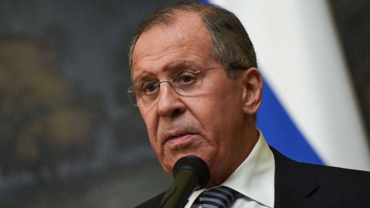 Calistenia en la Alameda.El ministro de Exteriores ruso, Serguei Lavrov