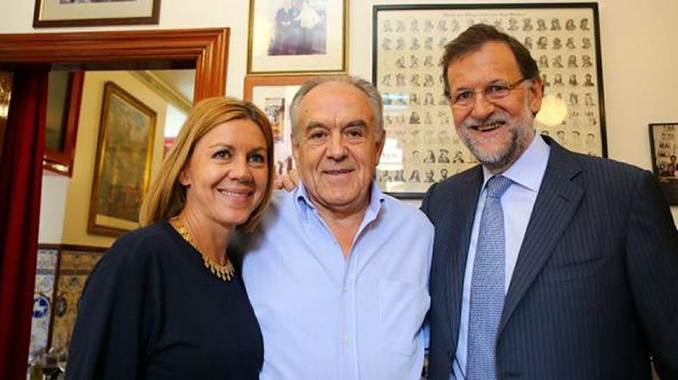 Rajoy se relaja con los suyos en la taberna «Mariano».Concepción Espejel en una imagen de archivo.
