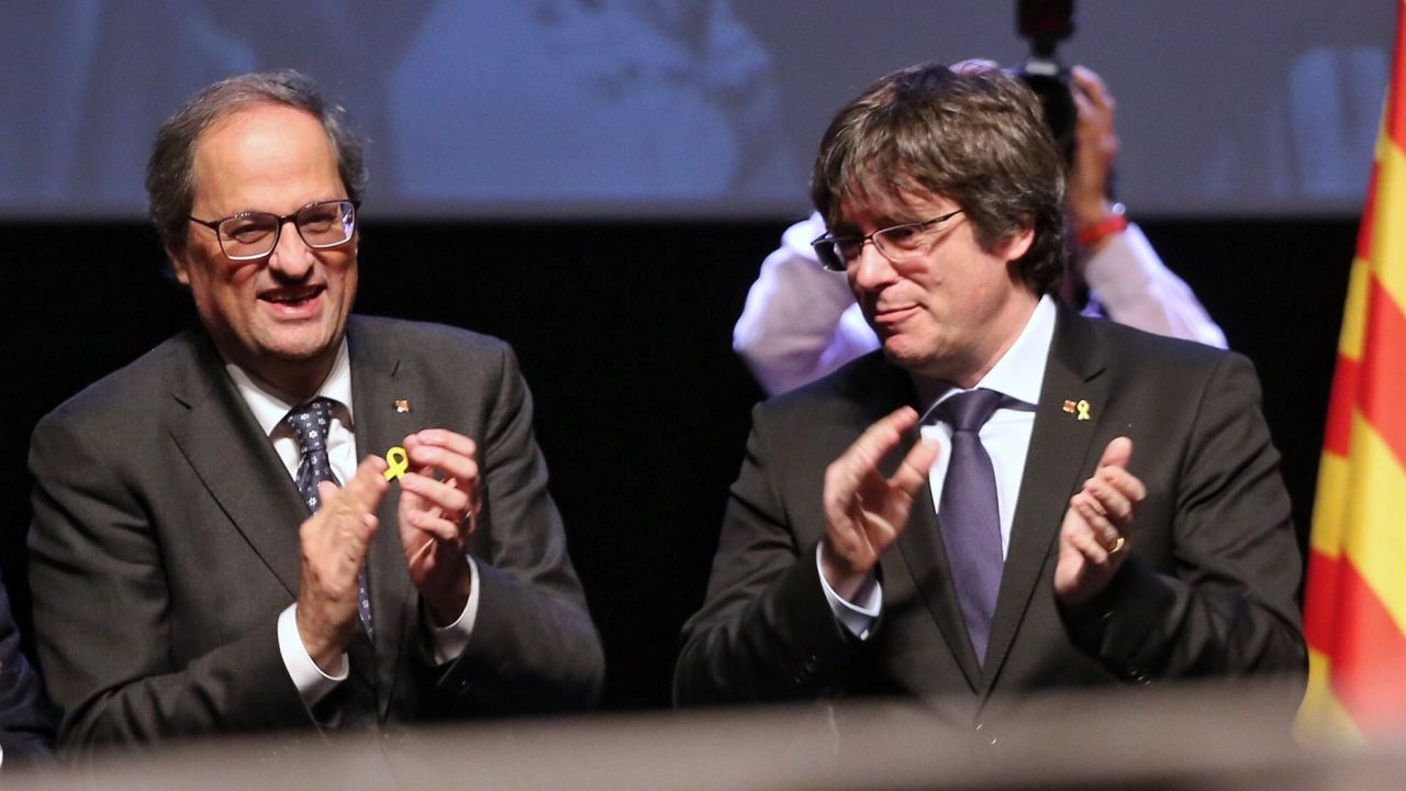 Torra y Puigdemont en diciembre del año pasado