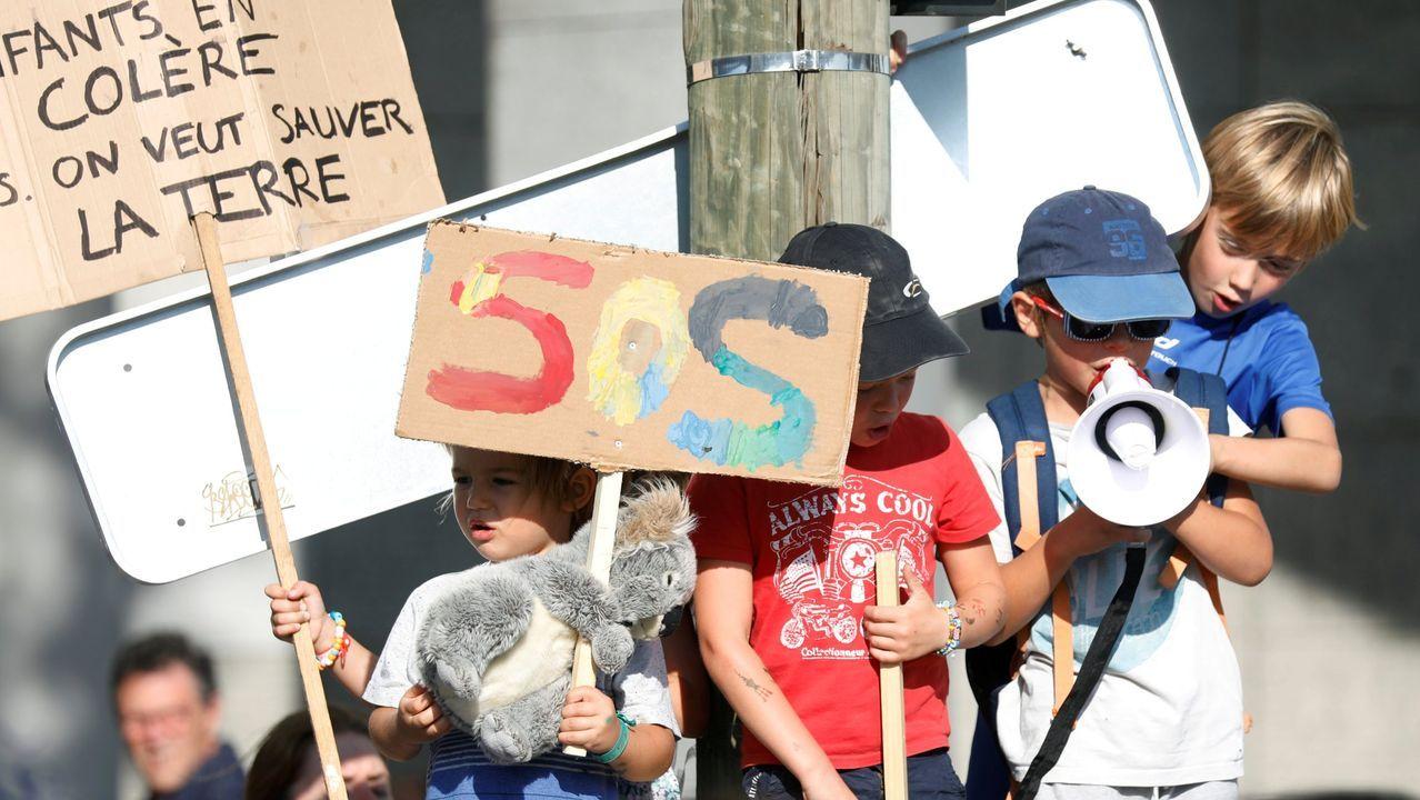 Pablo Junceda.Protesta llevada a cabo por niños en París el pasado 21 de septiembre para pedir a los políticos que tomen medidas urgentes contra el cambio climático
