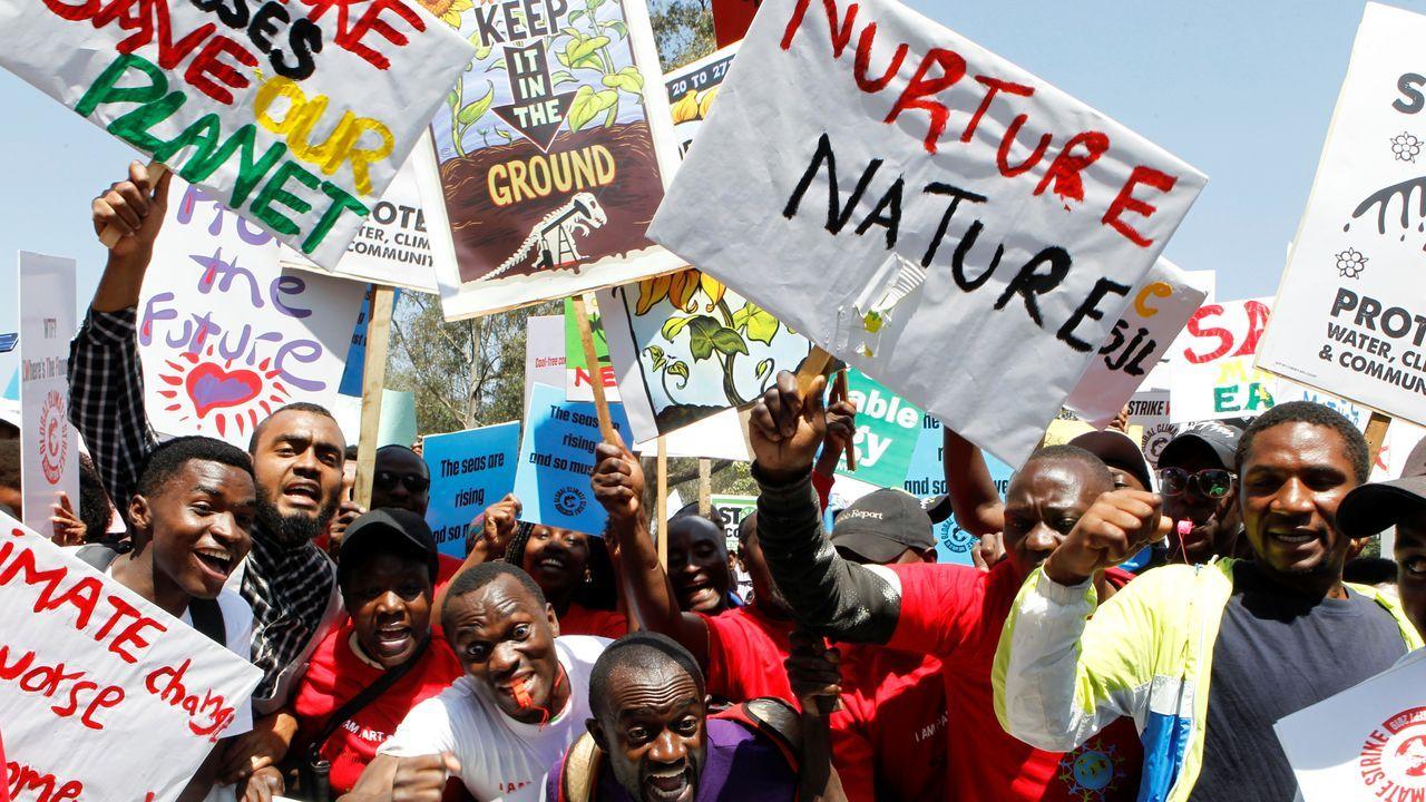 Marcha en Nairobi