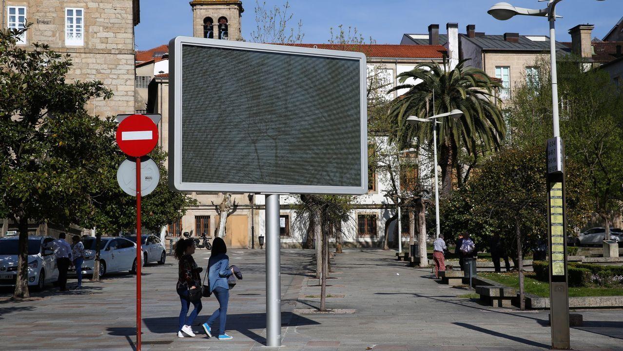 Pantalla informativa de la alameda de Ourense