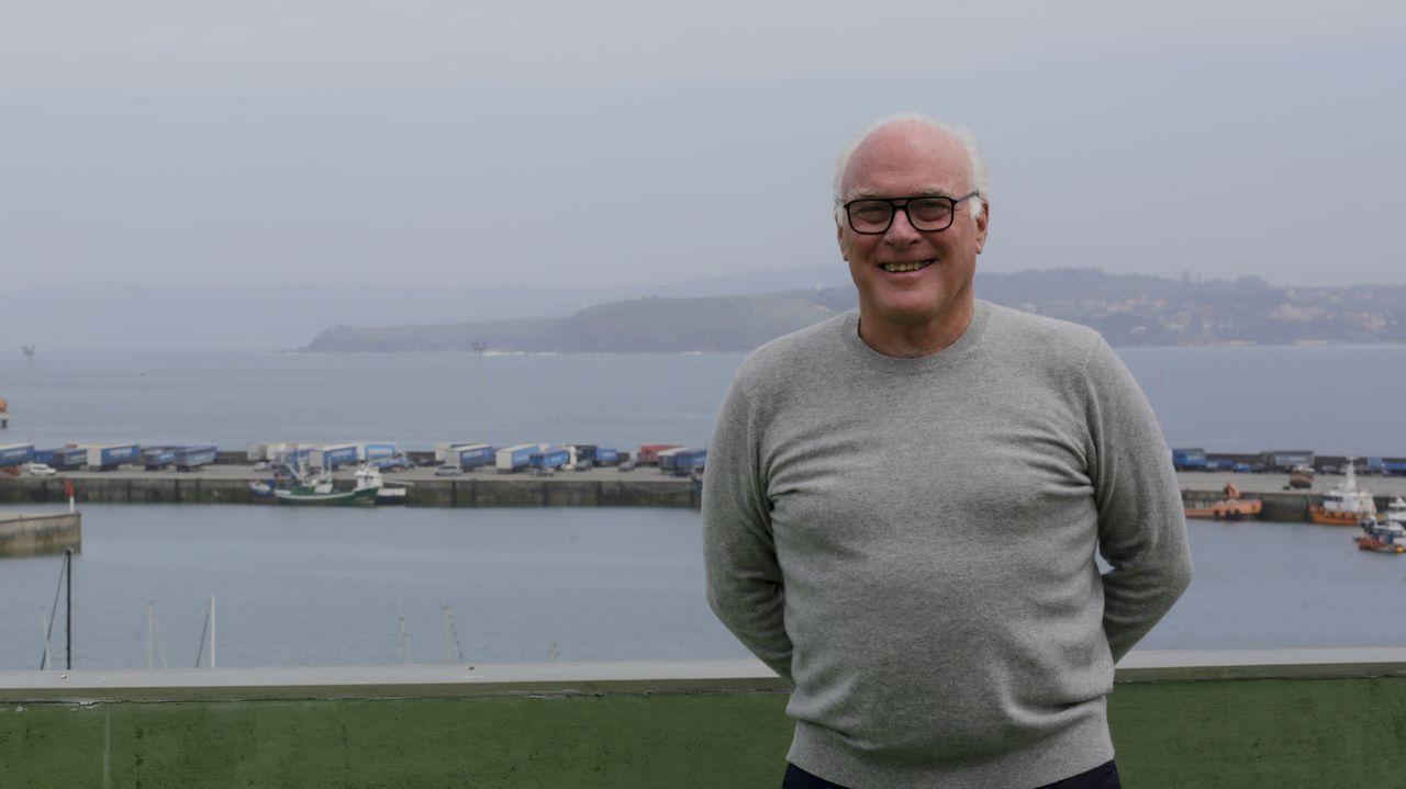 William J. McKenna, ayer en el fortín del Hospital Maritimo de Oza (Chuac) de A Coruña