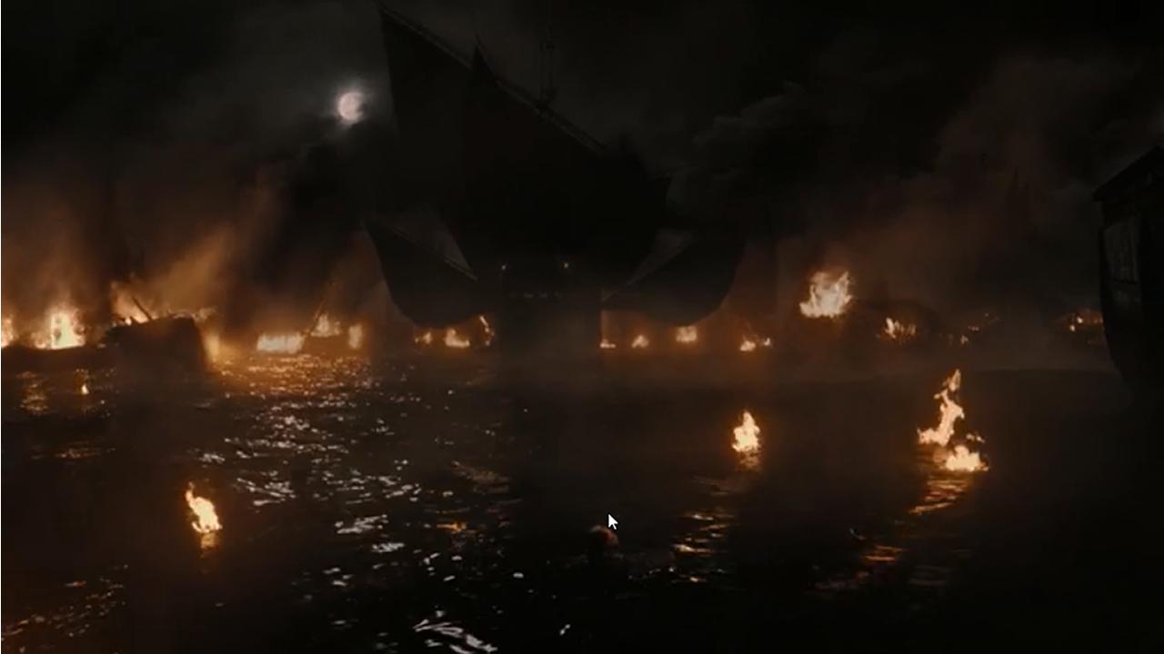 Batalla entre los Dothraki y los Lannister.Batalla naval en el episodio 7x02 de Juego de Tronos