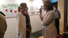 Delia Losa en la clausura de la exposición 'En tiempos de Coronavirus. Una mirada a la vocación de servicio'.
