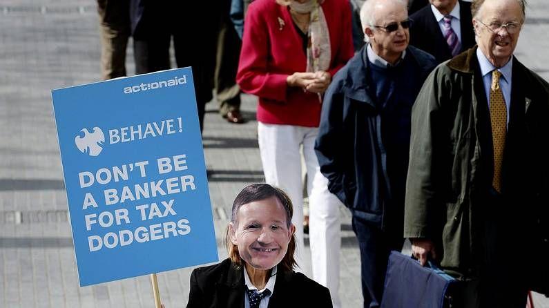 Protesta contra Barclays en Londres
