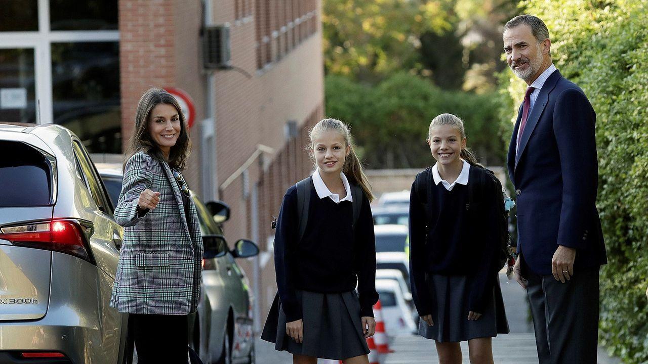 EN DIRECTO: mensaje del rey Felipe VI.La princesa Leonor y su hermana, la infanta Sofía, el pasado 3 de febrero en la apertura de las Cortes