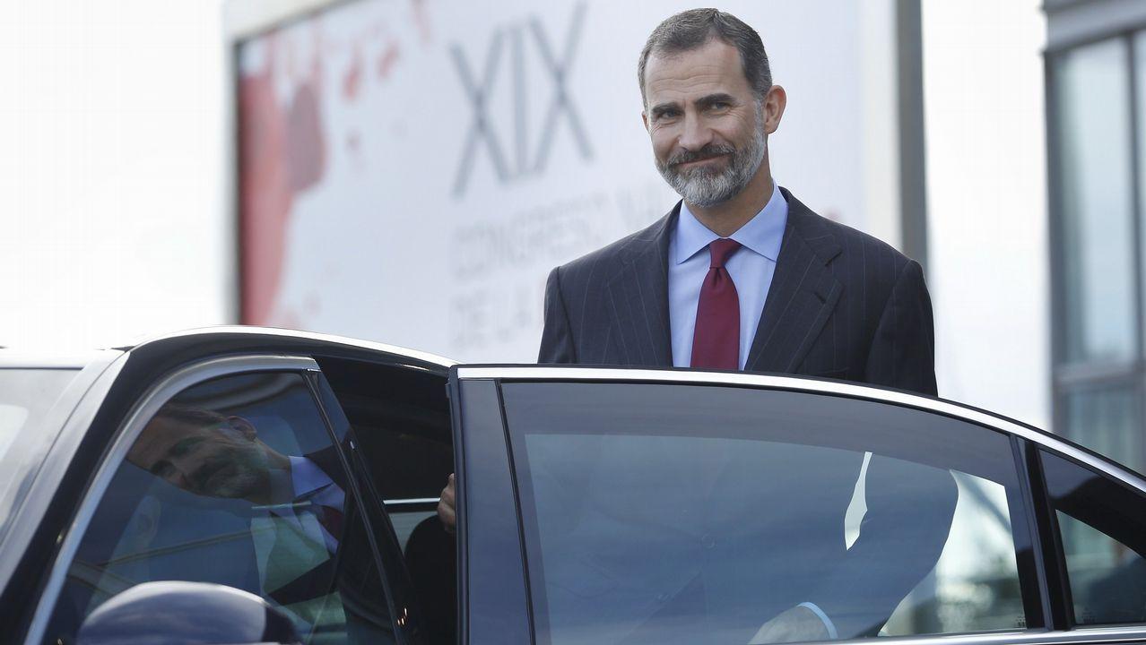 El Rey, de visita en Tui.El rector de la Universidad de Oviedo, Santiago García Granda, en una imagen de archivo