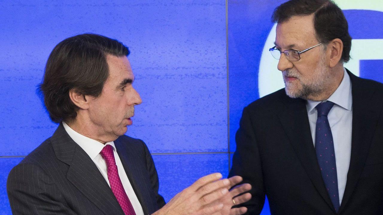 Aznar junto a Rajoy en el Comité Ejecutivo Nacional del 21 de diciembre del 2015