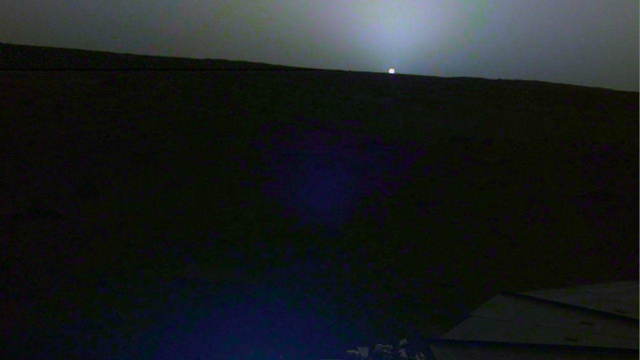 La imagen captada por la sonda InSight