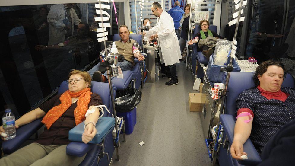 Chloe, un milagro en la zona cero del coronavirus.Donación de sangre en Lalín