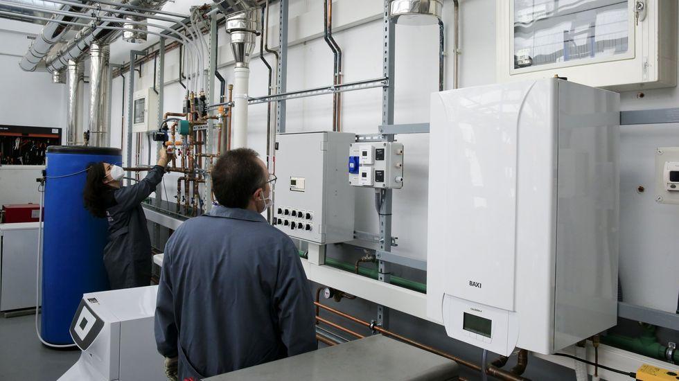 Práctica de frio industrial en FP en el CIFP As Mercedes, de Lugo