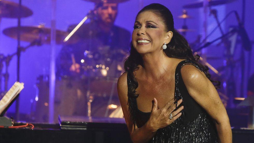 Isabel Pantoja en su último concierto en A Coruña, en el año 2013.