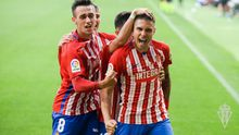Gol del Sporting, Djuka y Pedro