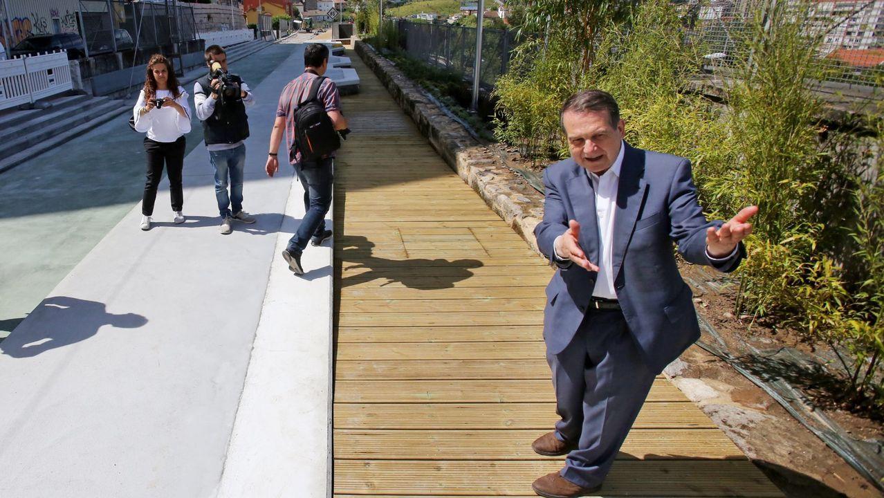 Vialia toma forma.López Font, en el medio en la imagen, en una foto de archivo de una sesión plenaria de enero de este año