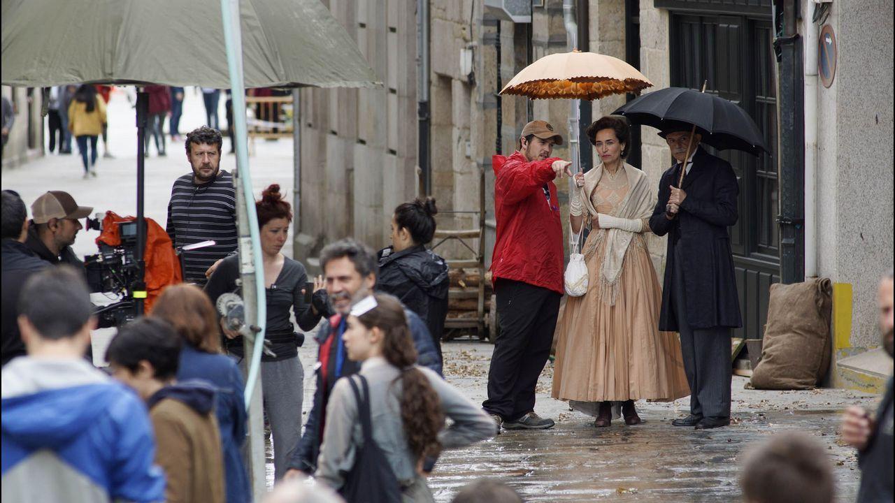 El rodaje de la película tuvo como escenario varias localidades gallegas, Celanova entre ellas
