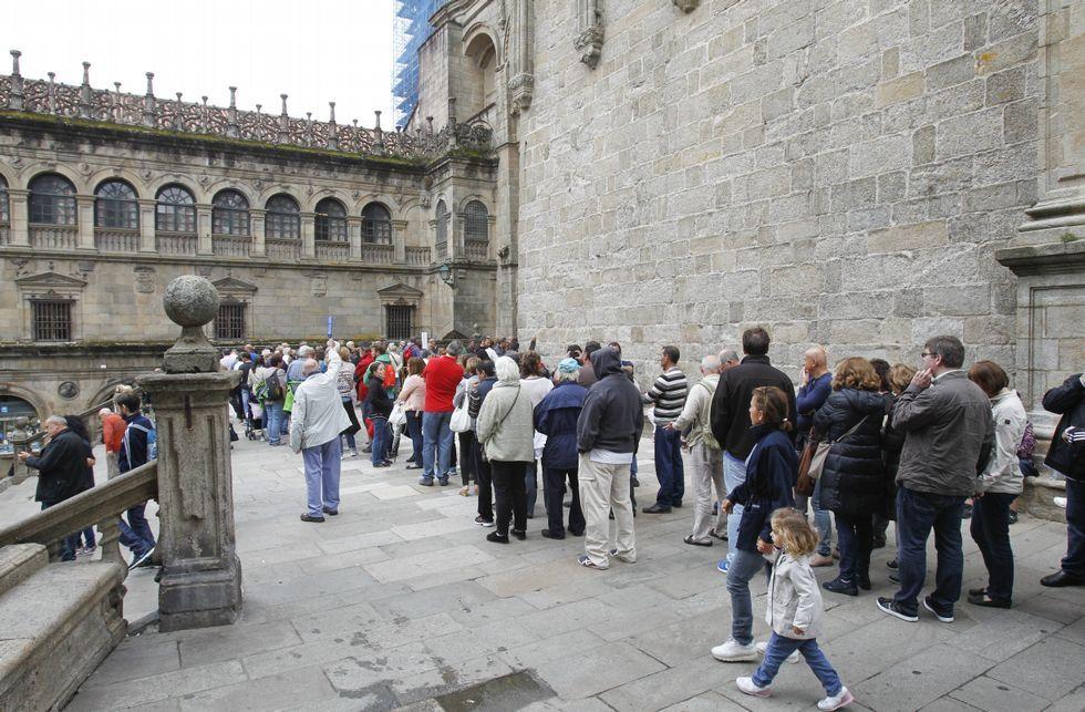 Cuando finalicen las obras en el Obradoiro se harán trabajos en A Quintana y las cubiertas.