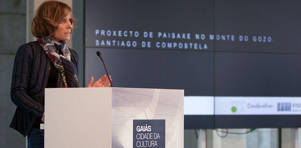 Nava Castro resaltó que el Monte do Gozo es una referencia jacobea y el mayor parque de la ciudad.