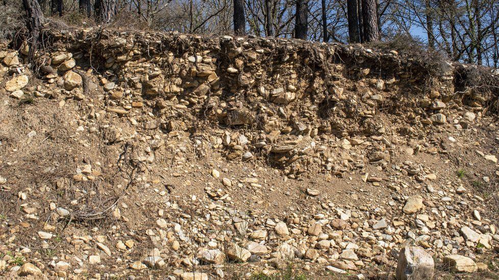 Un frente de explotación en la parte baja del complejo minero