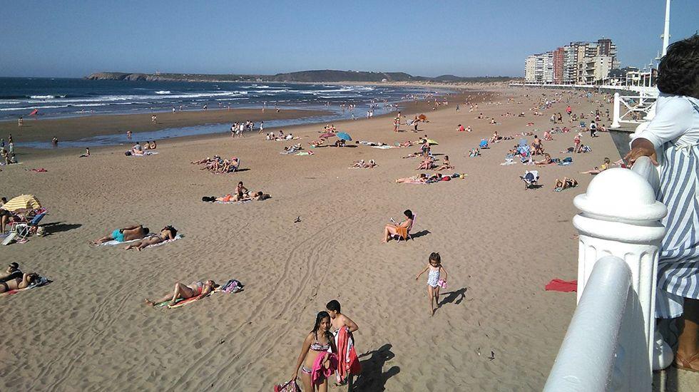 La primavera colorea Galicia.Playa de Salinas