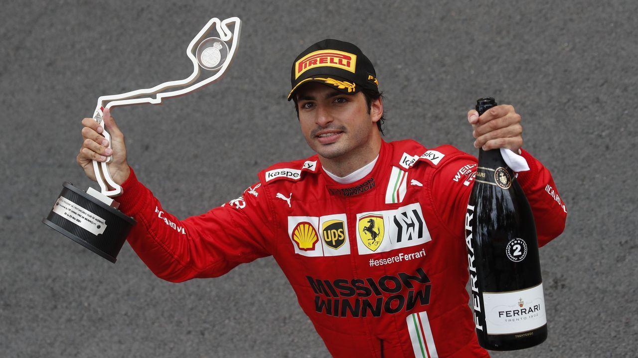El piloto asturiano Fernando Alonso en el GP de Baku