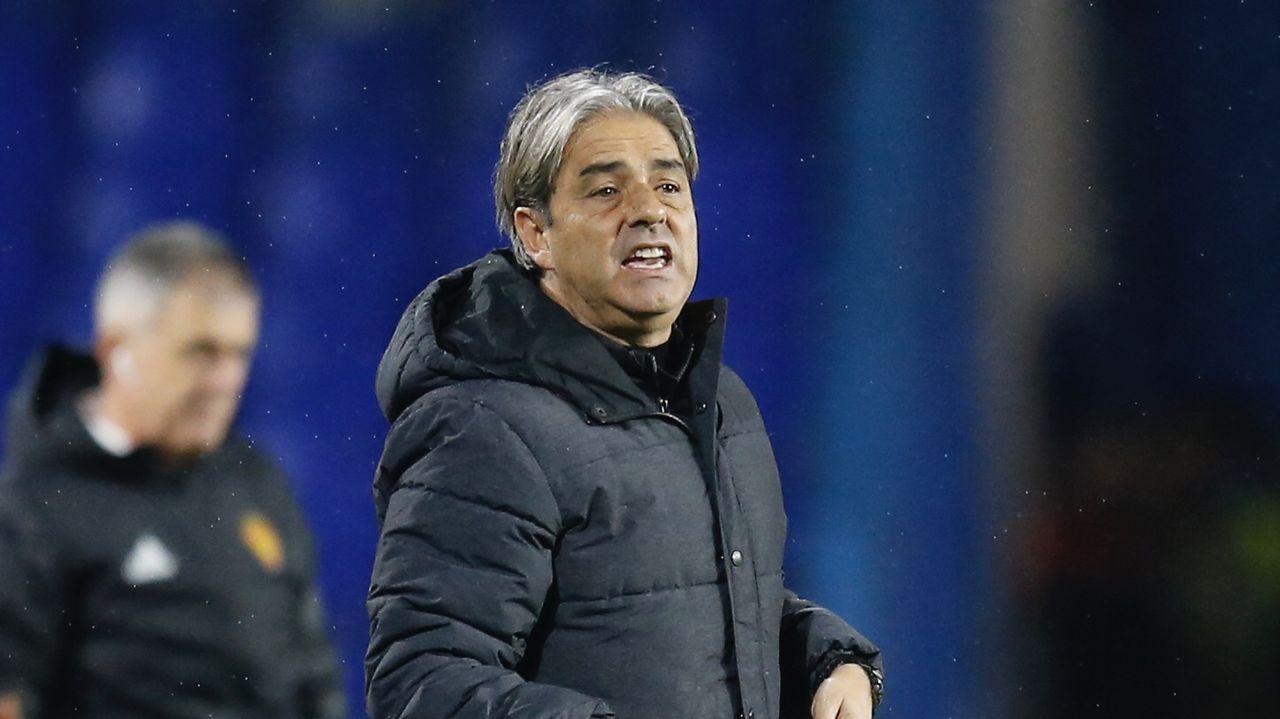 Gol Yoel Barcenas Real Oviedo Reus Carlos Tartiere.Lucas Alcaraz