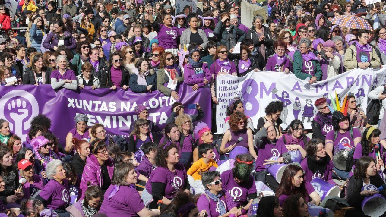 Los 41imágenes que optan a ser cartel del Arde Lucus 2020.Manifestación feminista en Lugo