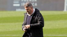Óscar García Junyent, durante su etapa como entrenador del Celta