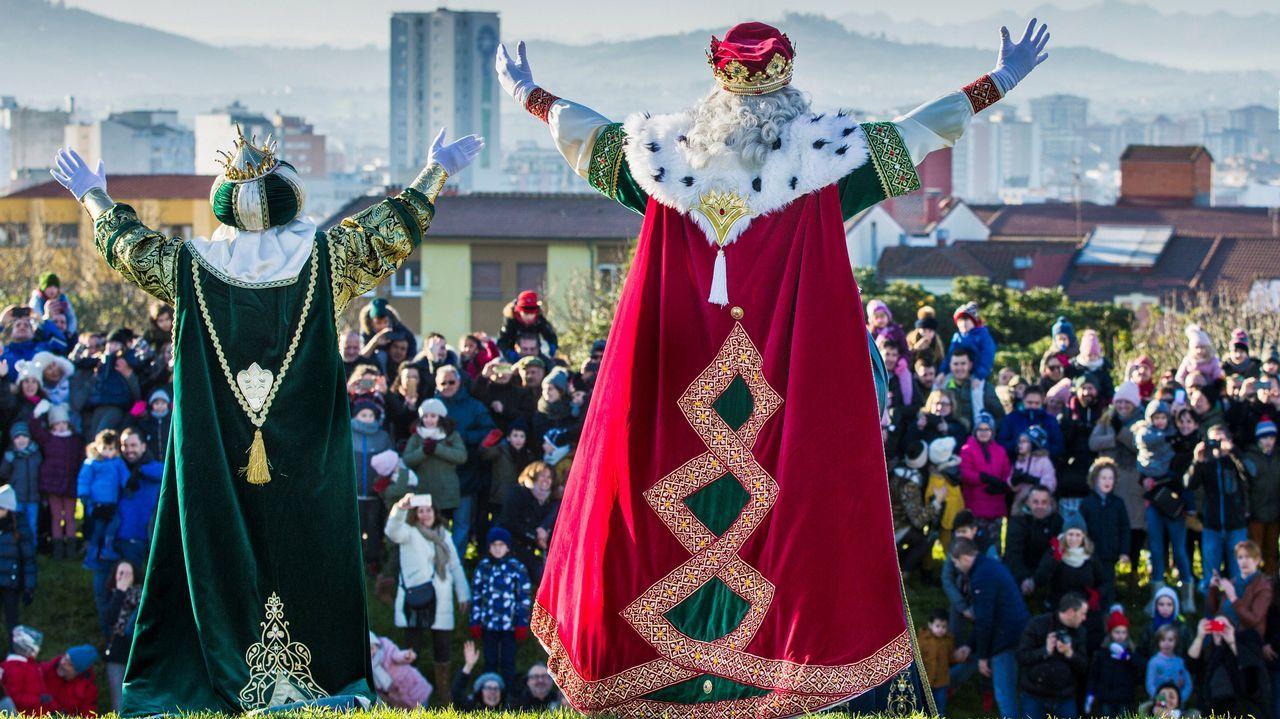 Los reyes magos en Gijón