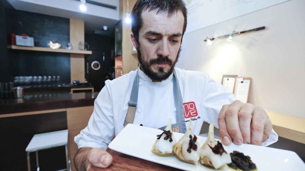 Feirada Cantería, Callos e Artesanía de Parga.Álvaro Villasante está al frente del equipo de cocina del Paprica