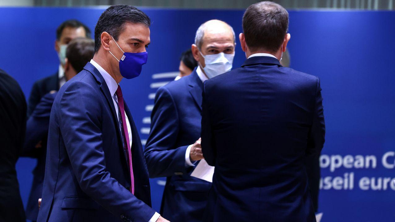 Pedro Sánchez comparece tras el Consejo Europeo.Rosa Gallego en un pleno municipal