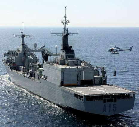 En la imagen, vista de una operación del buque en Australia.