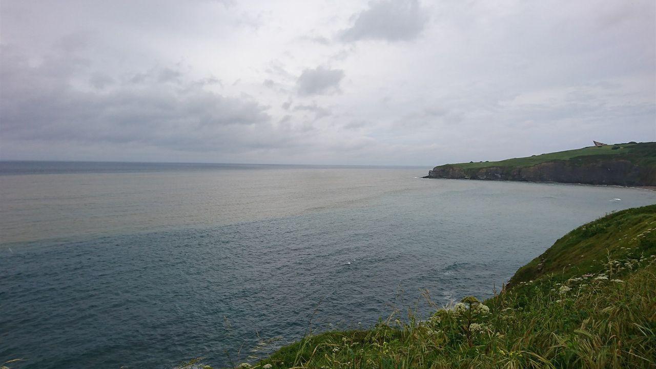 La costa gijonesa afectada por residuos